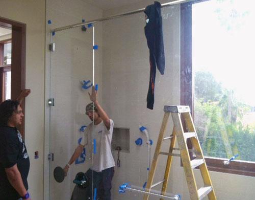 Residential Shower Enclosure  - Apollo Glazing Contractor's Inc.