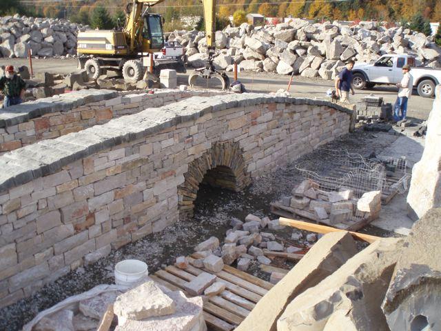 Commercial Masonry - Natural Stone Ramp - South Valley Masonry Inc.
