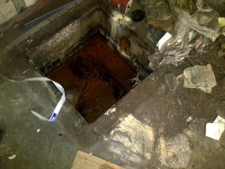 oil contaminated sump - before  - Alternative Disposal, Inc.