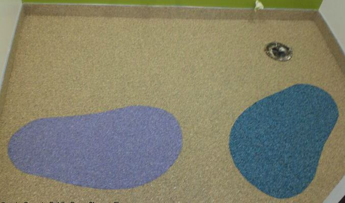 Quartz Carpet : Gold's Gym, Shower Floor  - Performance Floors