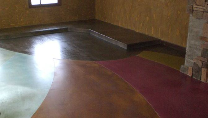 Scofield Overlay with Stain : Rodrigo's Restaurant - Performance Floors