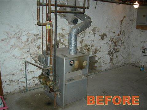 Boiler & Water Heater Installation - Before
