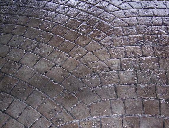 Fan Stamped Concrete  - Wolf Concrete Construction