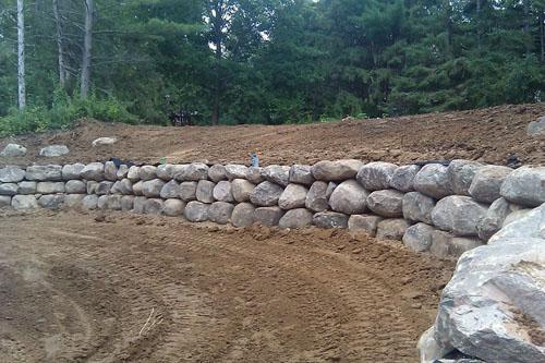 Landscaping Boulders Mn : Commercial landscape boulder walls midstate landscaping