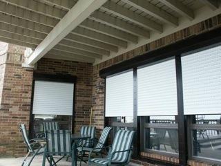 Brick Home Patio - Creative Window Solutions