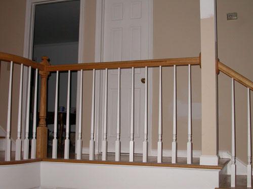 ... Wood Railing   All American Stairs U0026 Railings ...