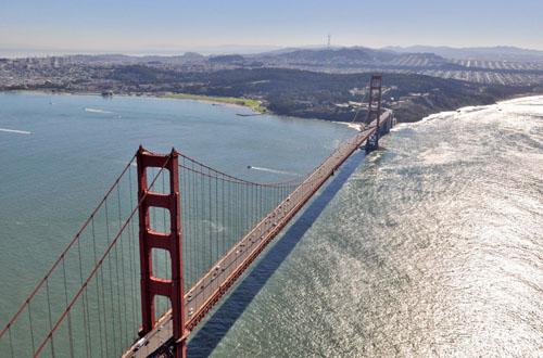 San Francisco Bay Bridge - Warren Air Video and Photography Inc.