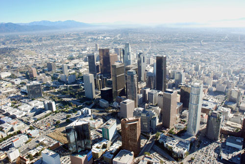 Downtown Los Angeles - Warren Air Video and Photography Inc.