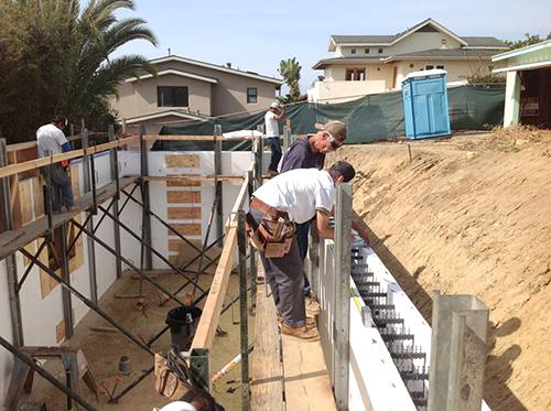 ICF walls - San Diego Concrete Pumping, Inc.