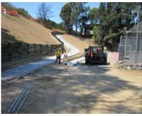 Landslide & Tennis Court Repair - SCQ Construction A Div. Of Stevens Creek Quarry, Inc.