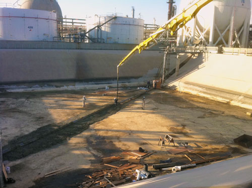 Slurrying a pipeline - Southern Cal Concrete Pumping