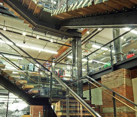 Monumental Retail Stairs (REI Soho) - Hallen Steel-Div. of Hallen Welding Service Inc.