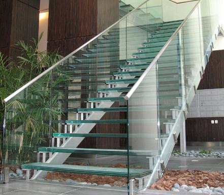 High End Commercial Stair Stringers  - Hallen Steel-Div. of Hallen Welding Service Inc.