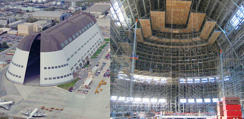 MOFFETT FIELD-- Aerial and Inside View - Safway Services, LLC
