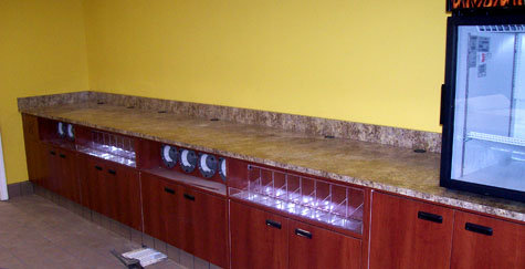 Beverage Counter for Convenience Store - Valley Fixtures and Installers, Inc.