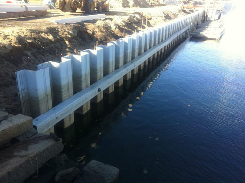 Marine Construction: Sea Wall  - Atlantic Support Installations, Inc.