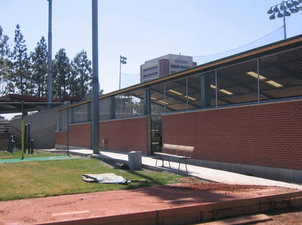 USC Batting Cage Chain Link Fence Los Angeles California - Mesa Fence Co.