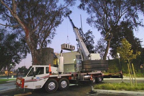 90 Ton Crane Lift / 30 Ton Air Handler - Marine Air, Inc.