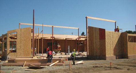 Paving-Hoisting of Columns and Glue Lams - PSR West Coast Builders, Inc.