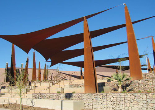 Chaparral Water Treatment Plant Point Sppt - Scottsdale, AZ - USA Shade & Fabric Structures