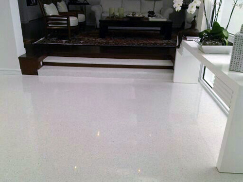 Exclusive Surfaces Inc White Terrazzo Flooring Image