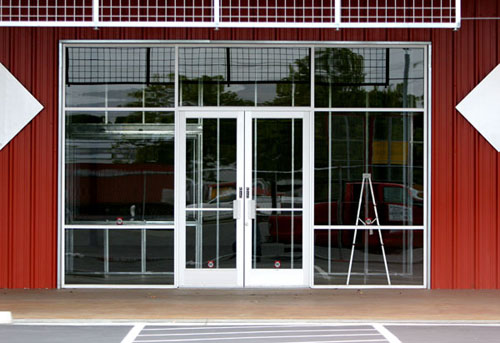 Modern storefront glass doors modern glass