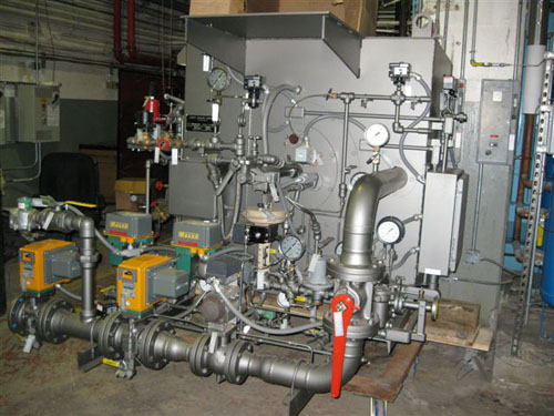Boiler Retrofit New Dual Burner Installation - M & M Welding & Fabricators, Inc.