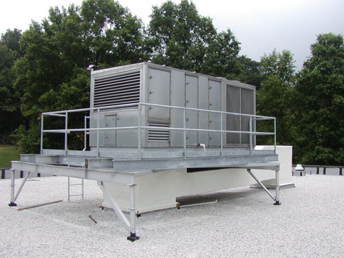 Installation of New Roof Top Unit - M & M Welding & Fabricators, Inc.