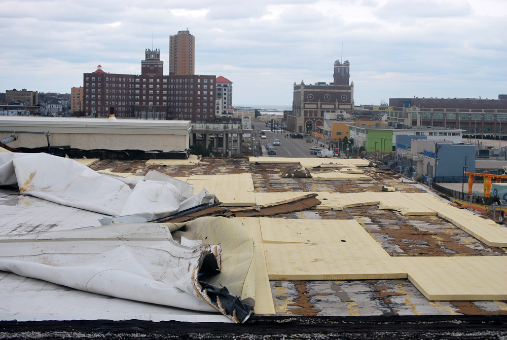 TPO Roof Blow off due to Super Storm Sandy