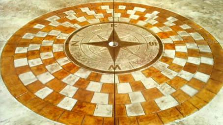 Compass - Stamped Concrete  - Cancino Concrete Inc.