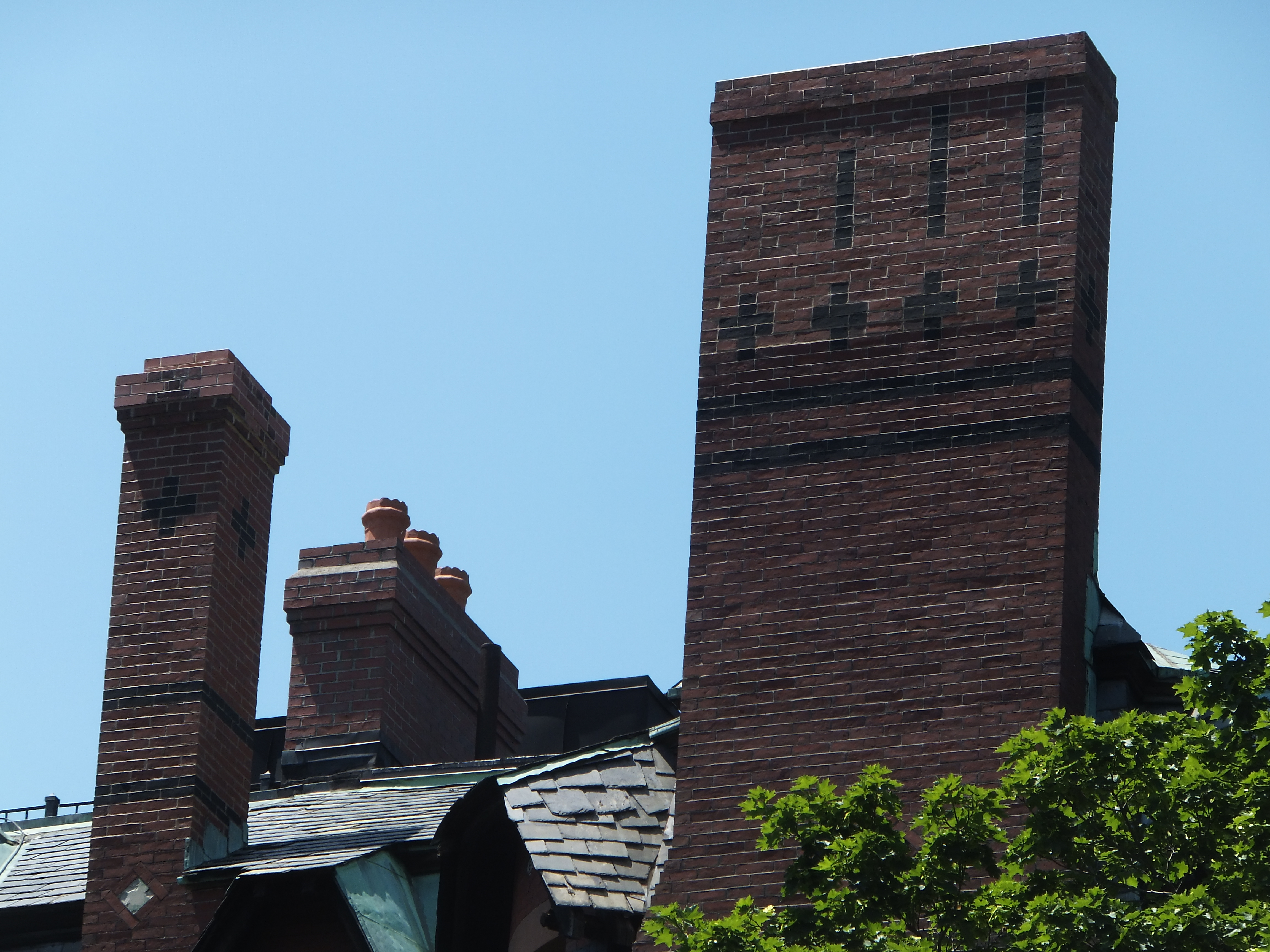 Chimney Reconstruction - Bay State College, Crowninshield House