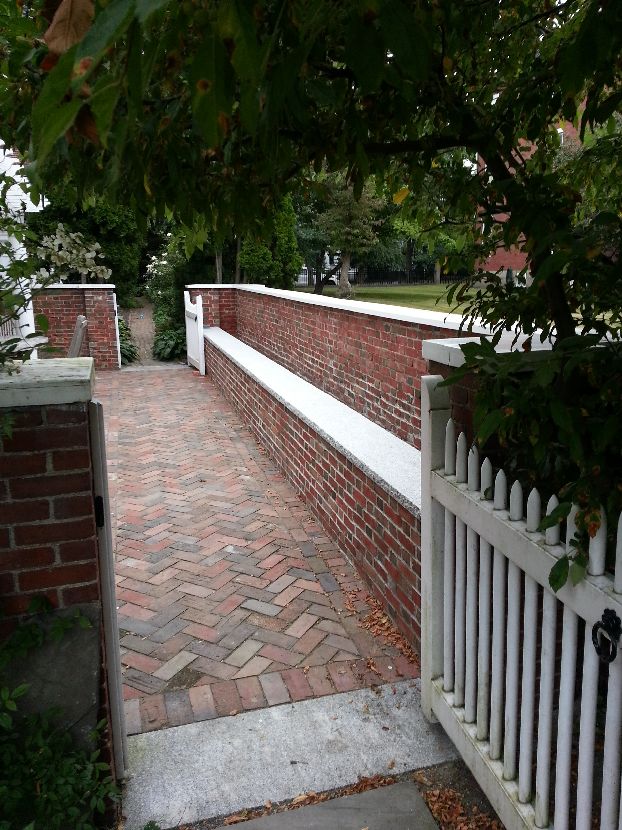Residential Red Brick Wall & Patio - Salem, MA