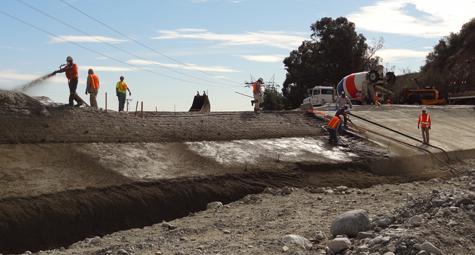 Concrete Construction - Water Control Facility  - Prime One Shotcrete
