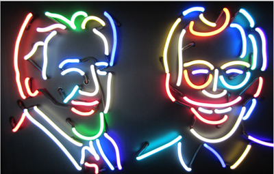 David Letterman & Jay Leno - EZ Neon Sign Co.