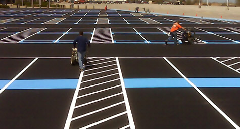 Parking Lot Line Striping - Cedar-Point - Interstate Striping & Signs, Inc.