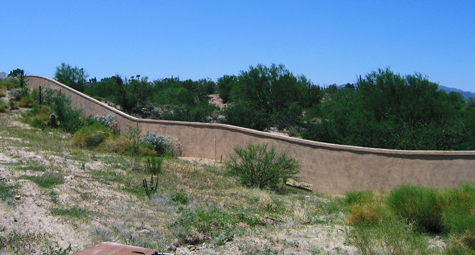 Serpentine Wall, Foundations, Block and Stucco - Bedrock Masonry, LLC