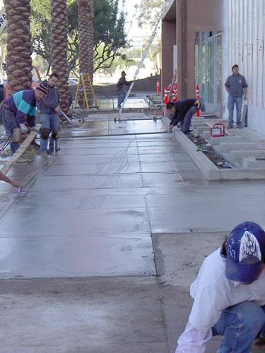 Forever 21 Sand Finish - Ramirez Concrete Inc.