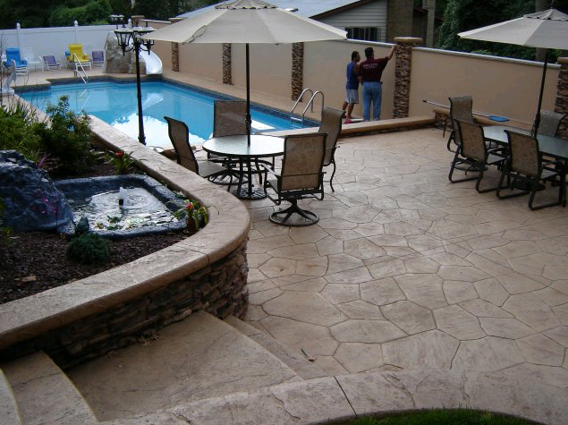 Nova Crete Inc Stamped Concrete Pool Deck Image Proview