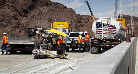 Hoover Dam Bypass - Nevada - Obayashi - A-Core Concrete Cutting Inc.