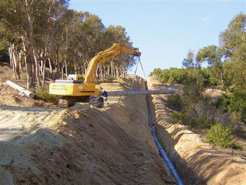 Portola Springs Water Main - Kennedy Pipeline Construction