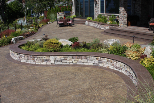 Residential Stamped Concrete - Stoneway Concrete