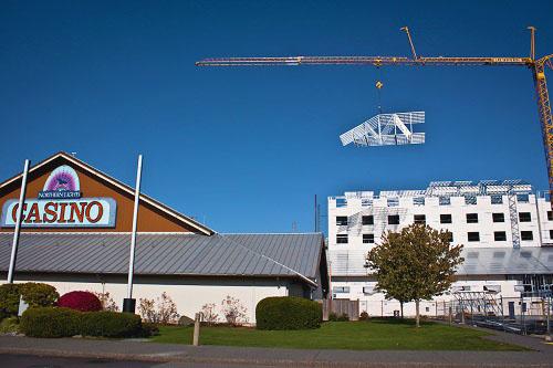 Swinomish Flying Trusses - Metier Construction, Inc.