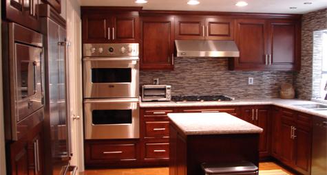 Kitchen Cabinet Woodwork & Island - A.T. Custom Cabinets