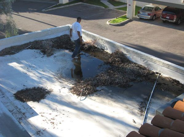 Roofing Maintenance - BEFORE - Southwest Roofing Consultants, Inc.