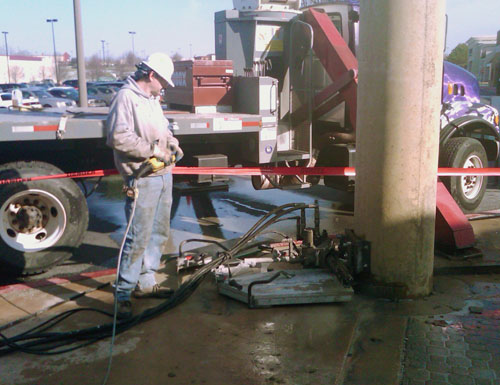 Wall Mount Concrete Saw : Concrete visions llc video image gallery proview