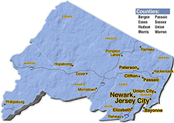 We are located in Morris County.
