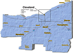We are located in Trumbull County.