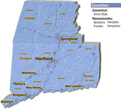 We are located in Hampden County. - Notch Mechanical Constructors