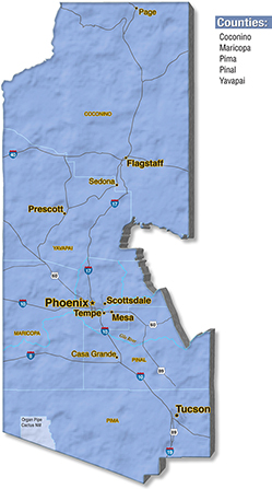 We are located in Pima County. - HomeTeam Pest Defense