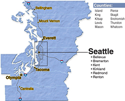 We are located in King County.